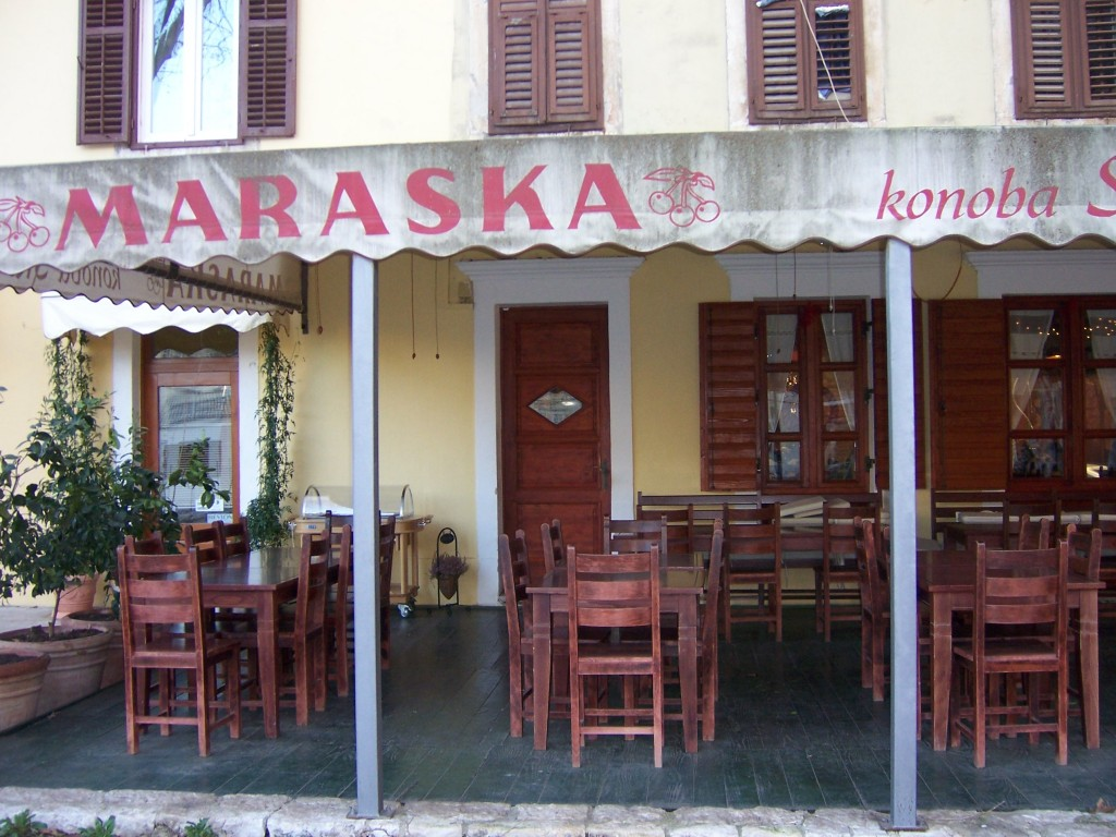 One of the many sea side cafe's in Zadar await you.