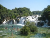 krka river area waterfalls