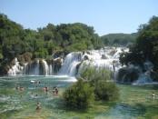 krka river area waterfalls