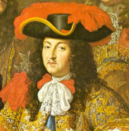 A painting of King Louis the 13th wearing a cravat in 1667